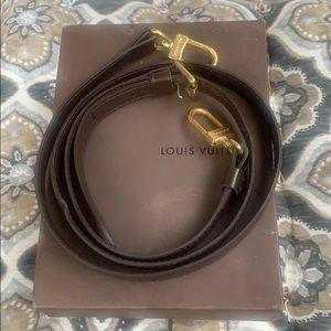 Authentic Louis Vuitton brown shoulder strap